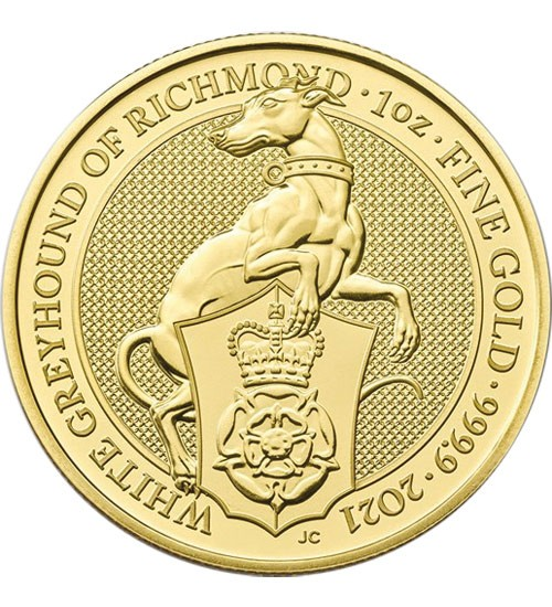 The Queen's Beast - White Greyhound of Richmond 1 oz 2021