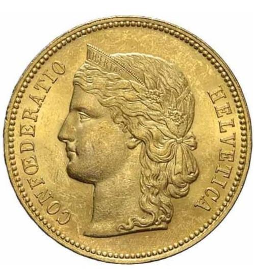 Gold Helvetia 20 SFR