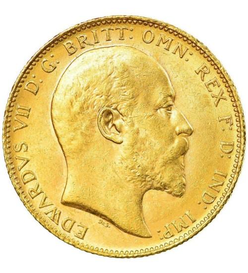 Gold Sovereign 1 Pfund Edward VII