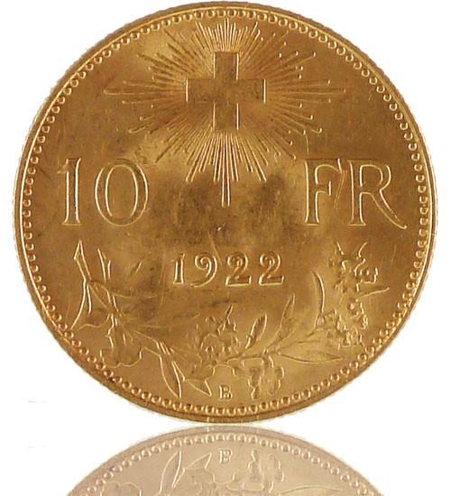 Gold Vreneli 10 SFR - 1911