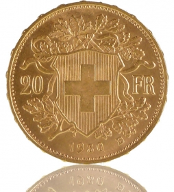 Gold Vreneli 20 SFR - 1904
