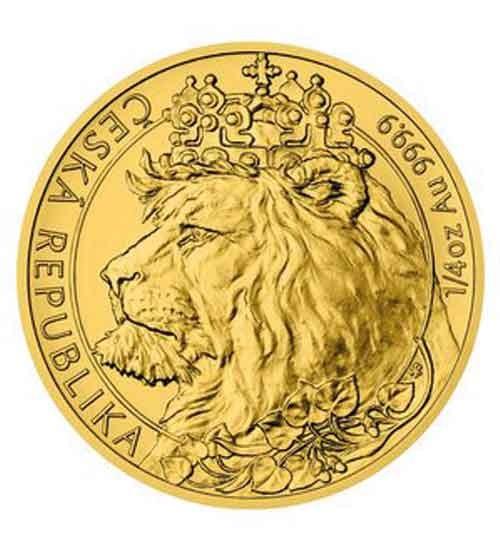 Gold Tschechischer Löwe - 1/4 oz - 2021 - Czech Lion