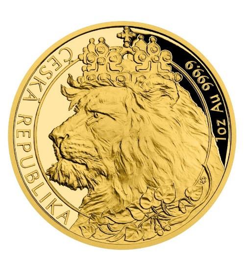 Gold Tschechischer Löwe - 1 oz - PP - 2021 - Czech Lion