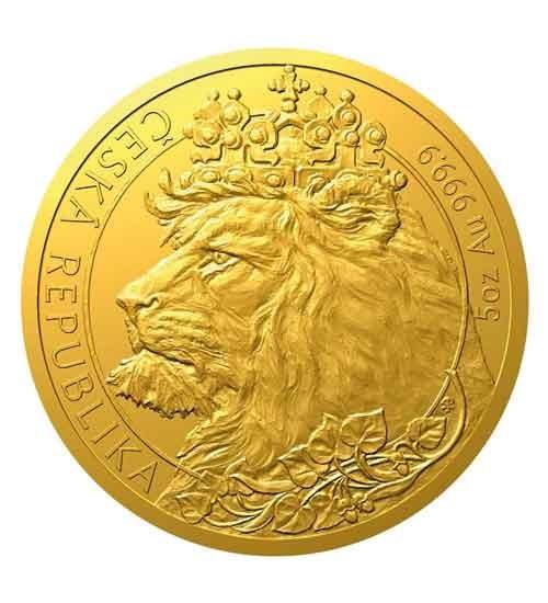Gold Tschechischer Löwe - 5 oz - 2021 - Czech Lion