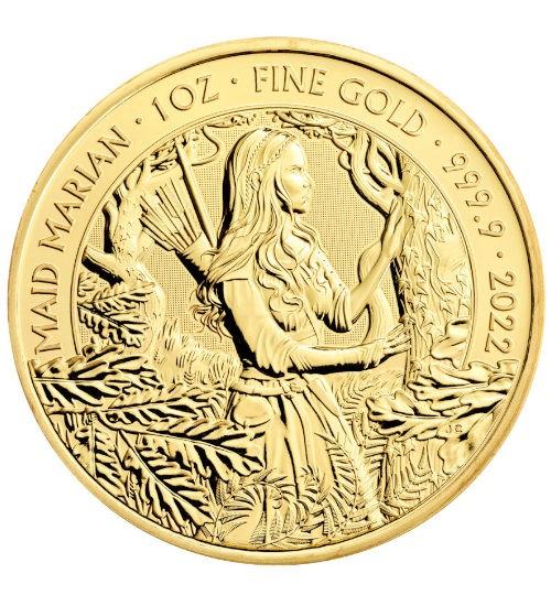 Myths and Legends Goldmünze 1 oz 2022 Maid Marian