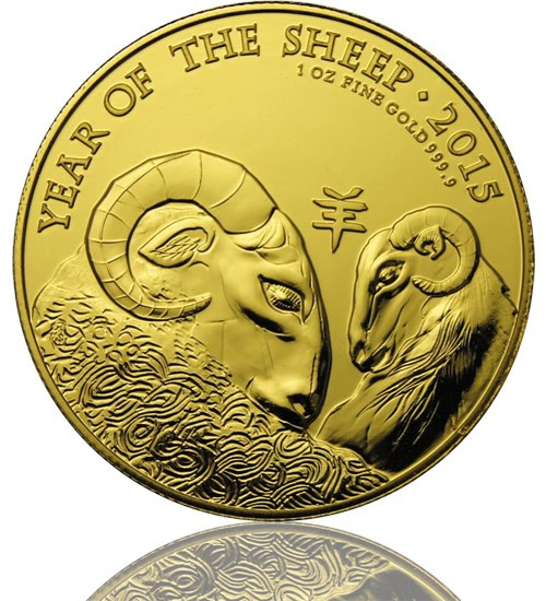 Lunar Serie UK Goldmünze 1 oz 2015 Ziege