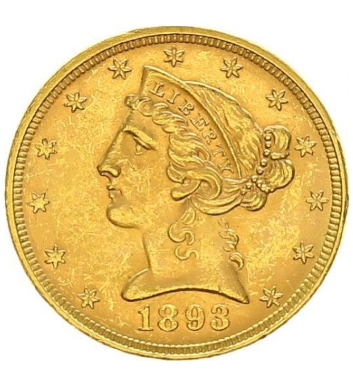 5 US-Dollar Liberty Head