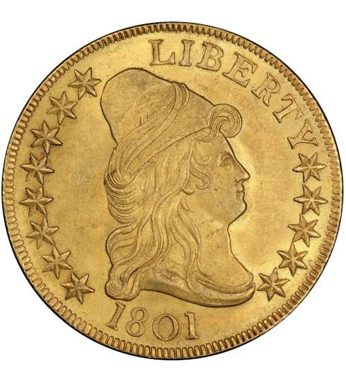 10 US-Dollar Draped Bust