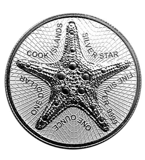 Cook Islands 1 oz 2021 Silverstar Seestern