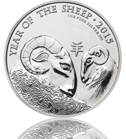 Großbritannien Lunar Serie 1 oz 2015 Ziege Schaf
