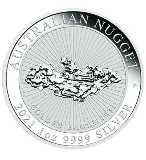 Australian Silber Nugget 1 oz 2021 - Golden Eagle