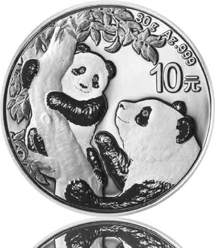 China Silberpanda 30 g 2021