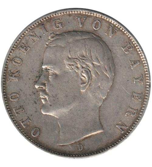 3 Mark König Otto von Bayern 1911 D
