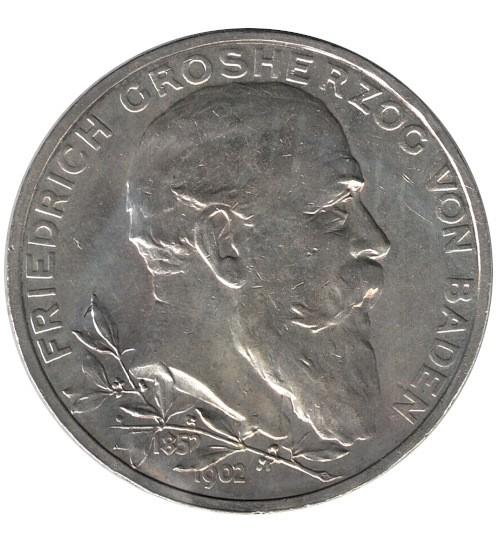 5 Mark Friedrich Grossherzog von Baden 1902 G