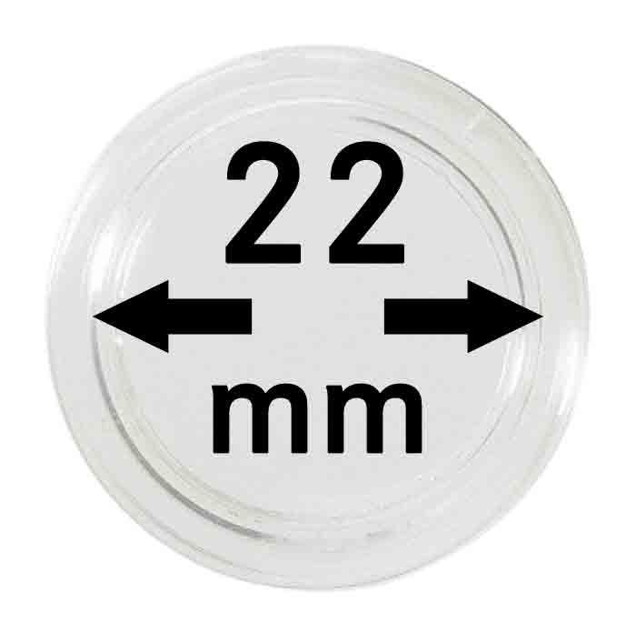 Münzenkapseln ø 22 mm / 0.9 inch