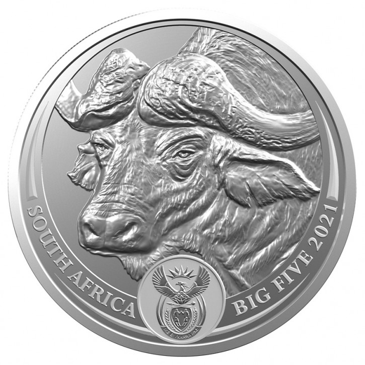 Big Five Büffel 1 oz Silber 2021 im Blister (5. Motiv)