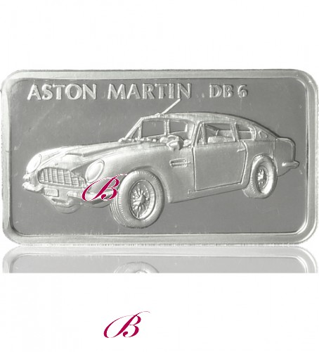 1 Oz Silber Motiv Barren Aston Martin