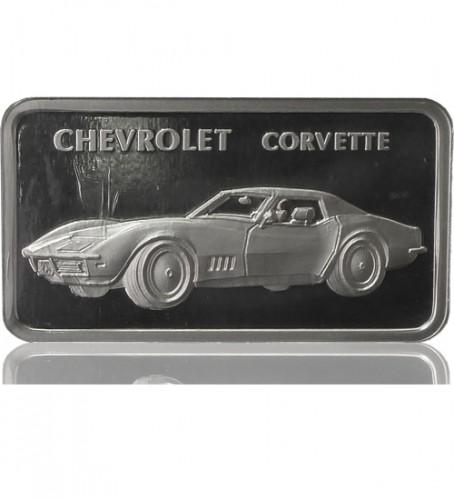 1 Oz Silber Motiv Barren Chevrolet Corvette