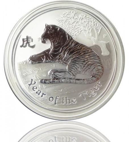 Lunar Serie Ii Tiger 2010 Silberm Nze 1000 G