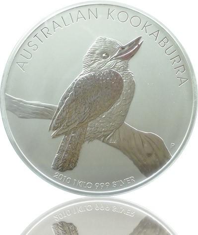 Silber Kookaburra 1000 G 2010