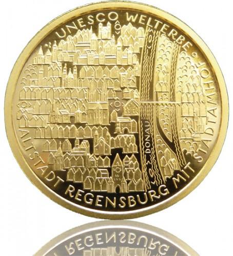 Goldeuro 1 2 Oz 2016 A Regensburg Mit Stadtamhof