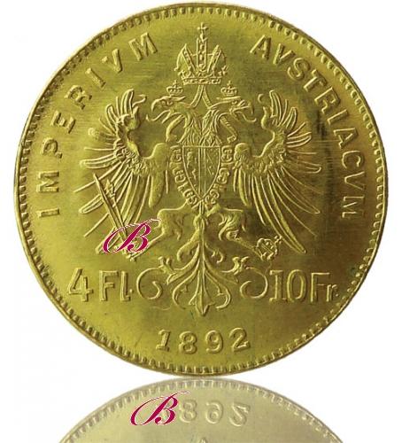 Gulden 4 Florin 10 Franken