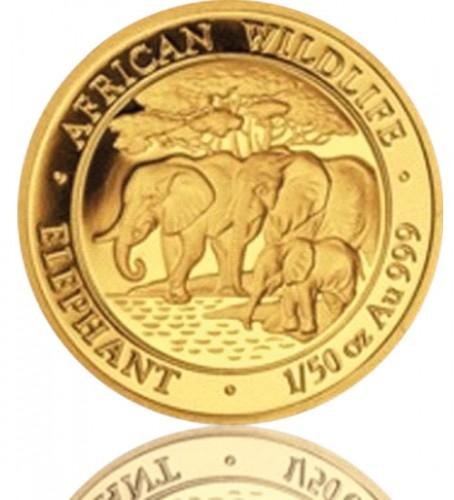 1 25 Oz Somalia Elefant Div Jg