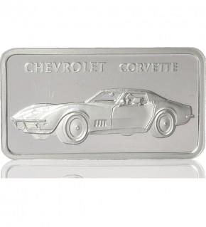1 oz Silber Motiv-Barren Chevrolet Corvette