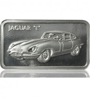 1 oz Silber Motiv-Barren Jaguar E-Type
