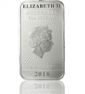 1 oz Silber Motiv-Barren 2018 Drache Perth Mint