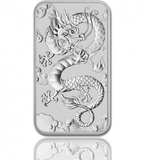 1 oz Silber Motiv-Barren 2019 Drache Perth Mint