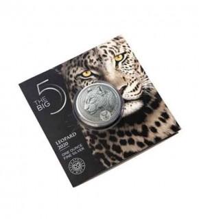 Big Five Leopard 1 oz Silber 2020 im Blister (4. Motiv)
