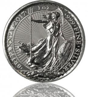 Britannia 1 oz Silbermünze 2017 Silber