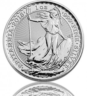 Britannia 1 oz Silbermünze 2018 Silber