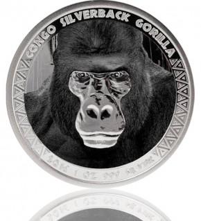 1 oz Congo Silverback Gorilla 2016