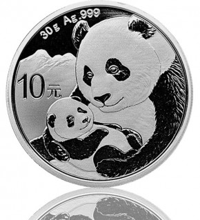 China Silberpanda 30 g 2019