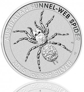 Trichternetzspinne 1 oz 2015 Perth Mint