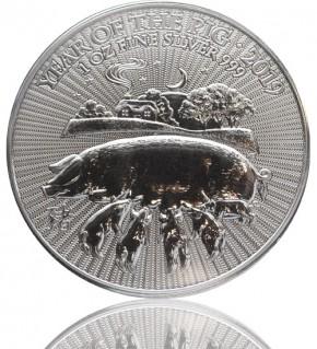Großbritannien UK Lunar Serie 1 oz 2019 Schwein Pig