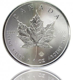 Maple Leaf Silber 1 oz 2018