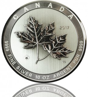 Magnificent Silber Maple Leaf 10 oz 2017