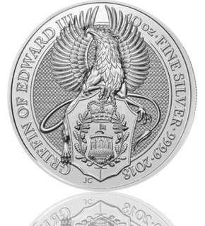 The Queen's Beast - Griffin of Edward III. 10 oz 2018