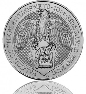 The Queen's Beast - Falcon of the Platagenets 10 oz 2020