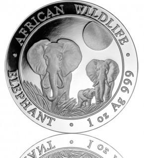 1 oz Somalia Elefant 2014 African Wildlife