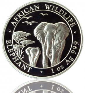 1 oz Somalia Elefant 2015 African Wildlife