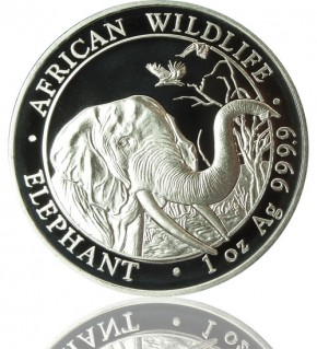 1 oz Somalia Elefant 2018 African Wildlife