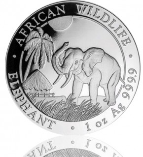 1 oz Somalia Elefant 2017 African Wildlife