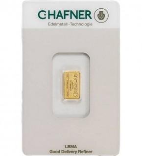 C.Hafner Gold-Barren 1 g Scheckkarte (LBMA-zertifiziert)