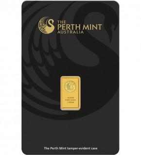 Perth Mint Gold-Barren 1 g Scheckkarte (LBMA-zertifiziert)