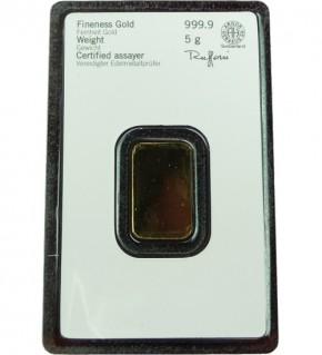 Heraeus Kinebar Gold-Barren 5 g Scheckkarte (LBMA-zertifiziert)