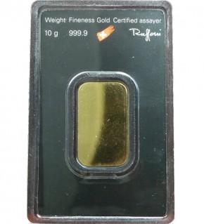Argor-Heraeus Gold-Barren 10 g Scheckkarte